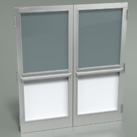 cleanroom double door