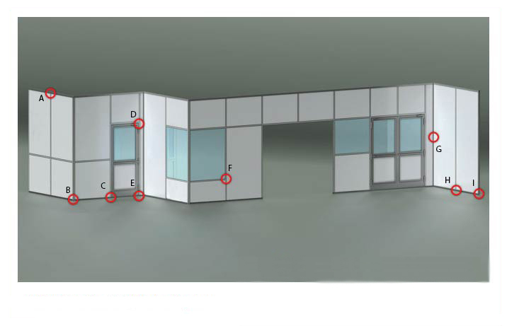 Double Sided cleanroom walls
